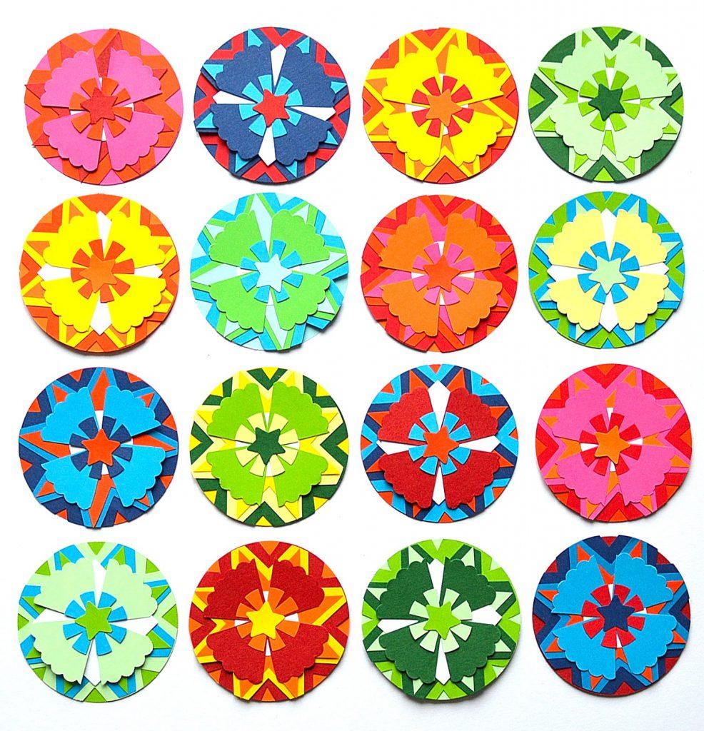 Kaleidoscope paper flowers